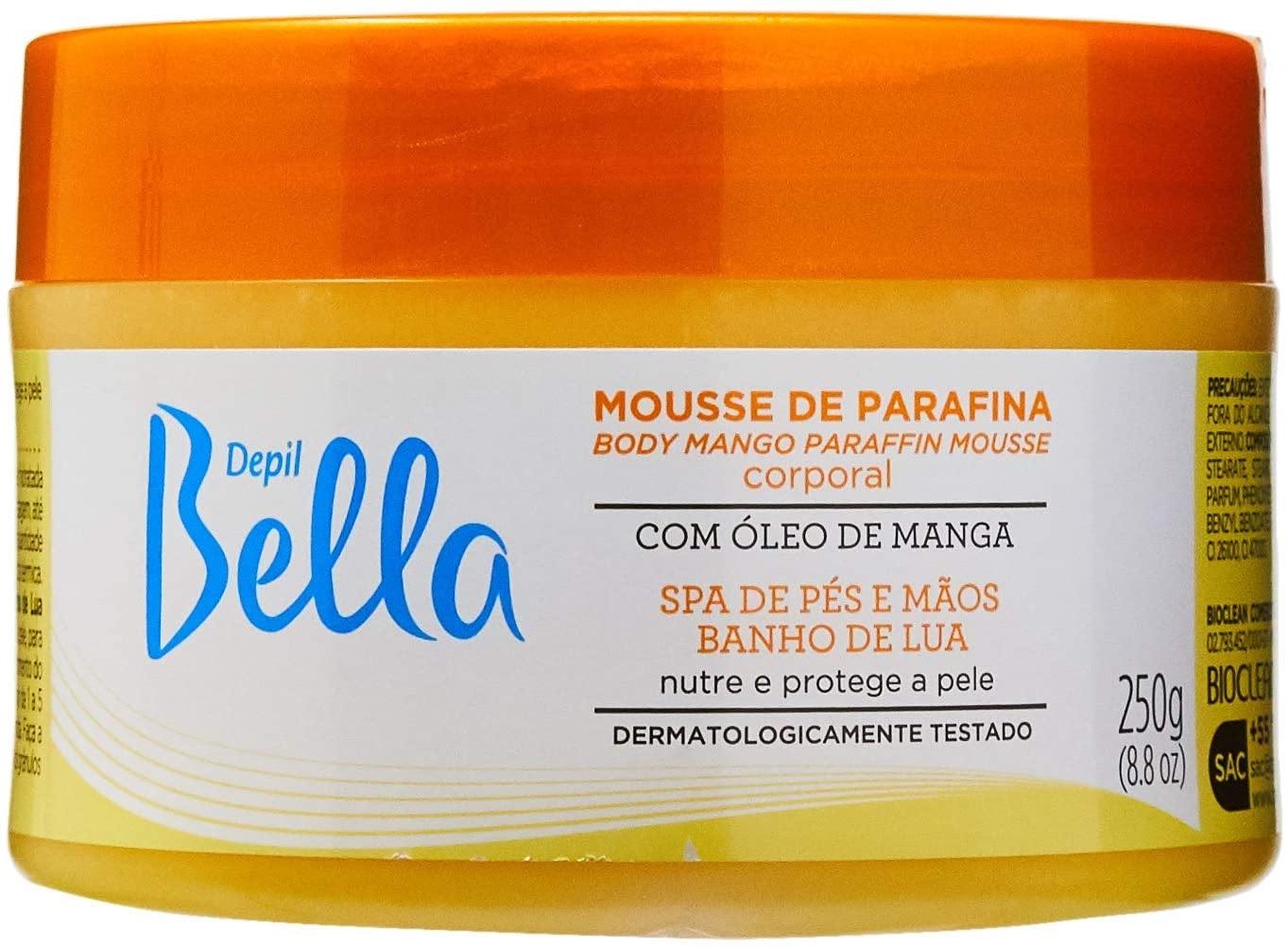 Mousse De Parafina Corporal Depil Bella Com Oleo De Manga 250G