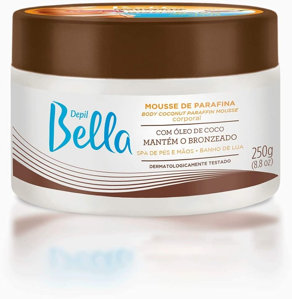 Mousse de Parafina Depil Bella Óleo de Coco 250g, Depil Bella