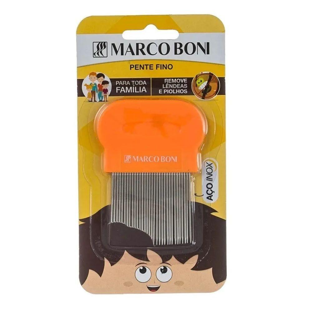 Pente Marcos Boni Fino Aço Inox Extrator Piolhos E Lêndeas 1222