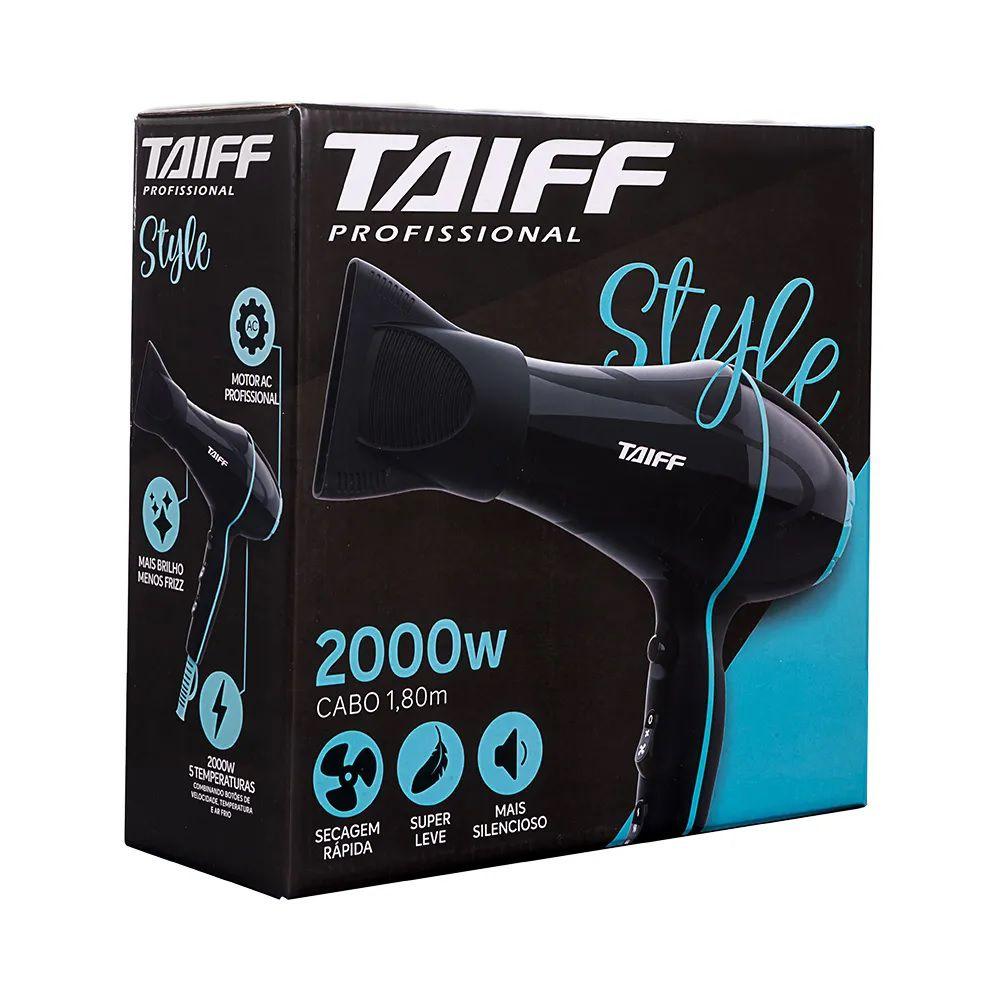 Secador De Cabelo Profissional Taiff Style 2000w - 127v