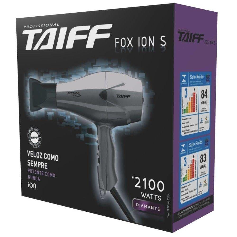 Secador De Cabelos Taiff Fox Íon S 2100w 110v
