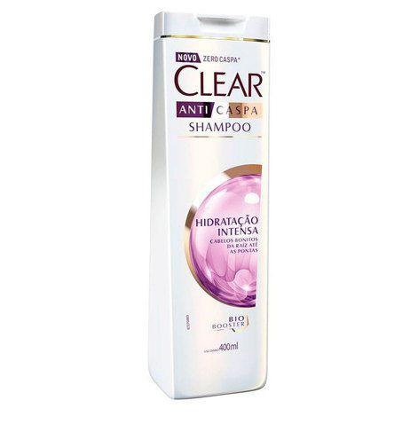 Shampoo Anticaspa Clear Hidratação Intensa 400 Ml