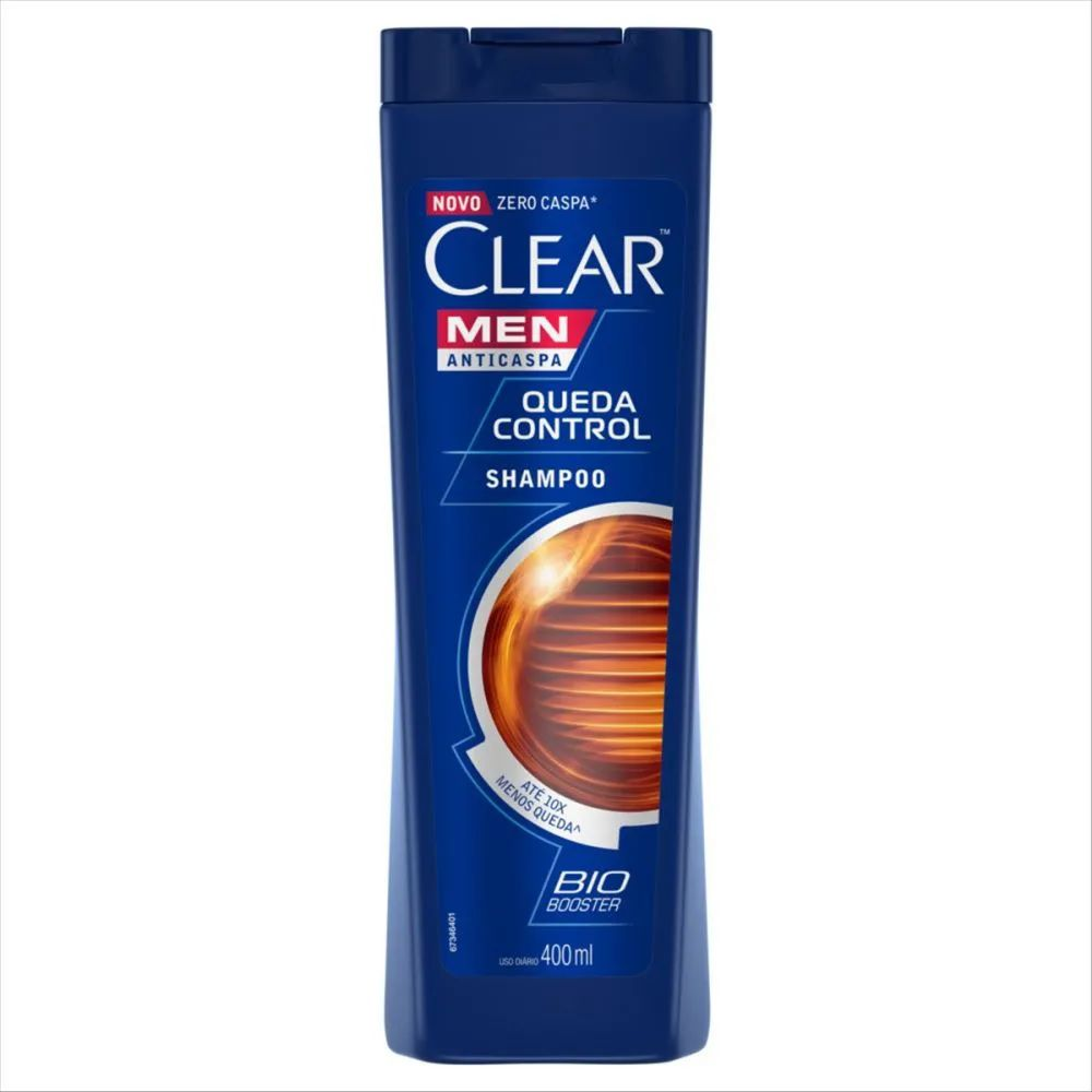 Shampoo Anticaspa Clear Men Queda Control 400 Ml