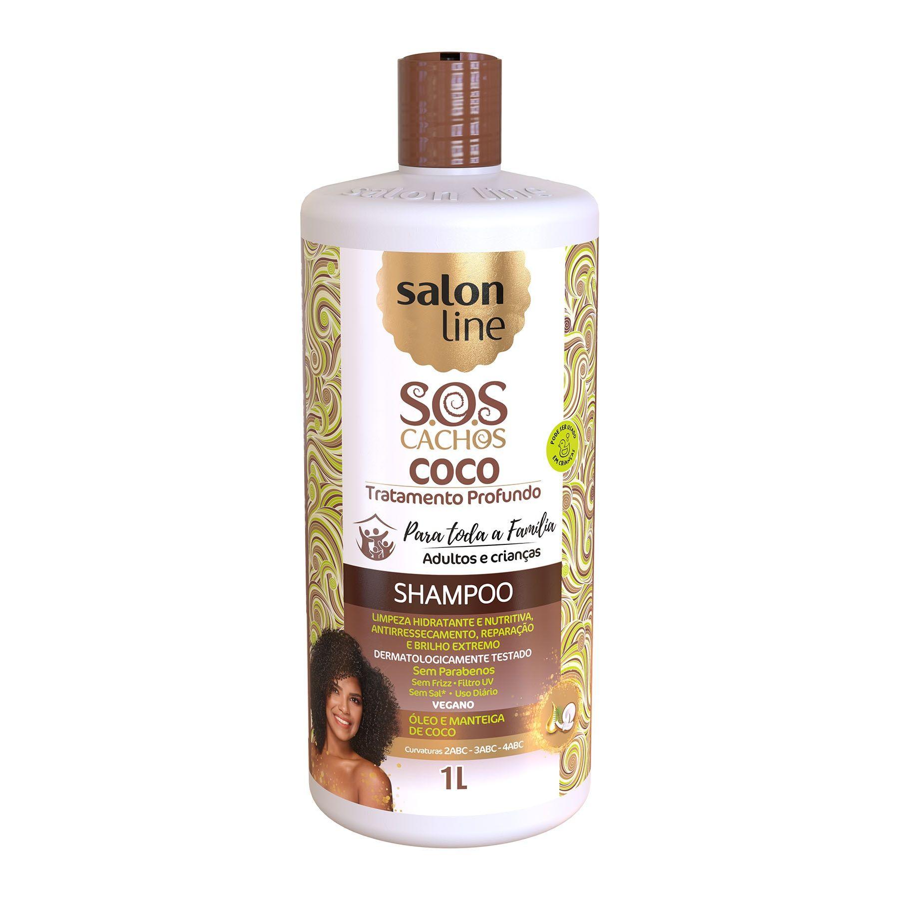 Shampoo Coco Tratam Profu SOS Cachos 1L Salon Line