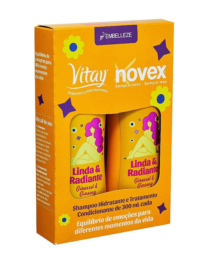 Kit Shampoo e Condicionador Vitay Linda e Radiante