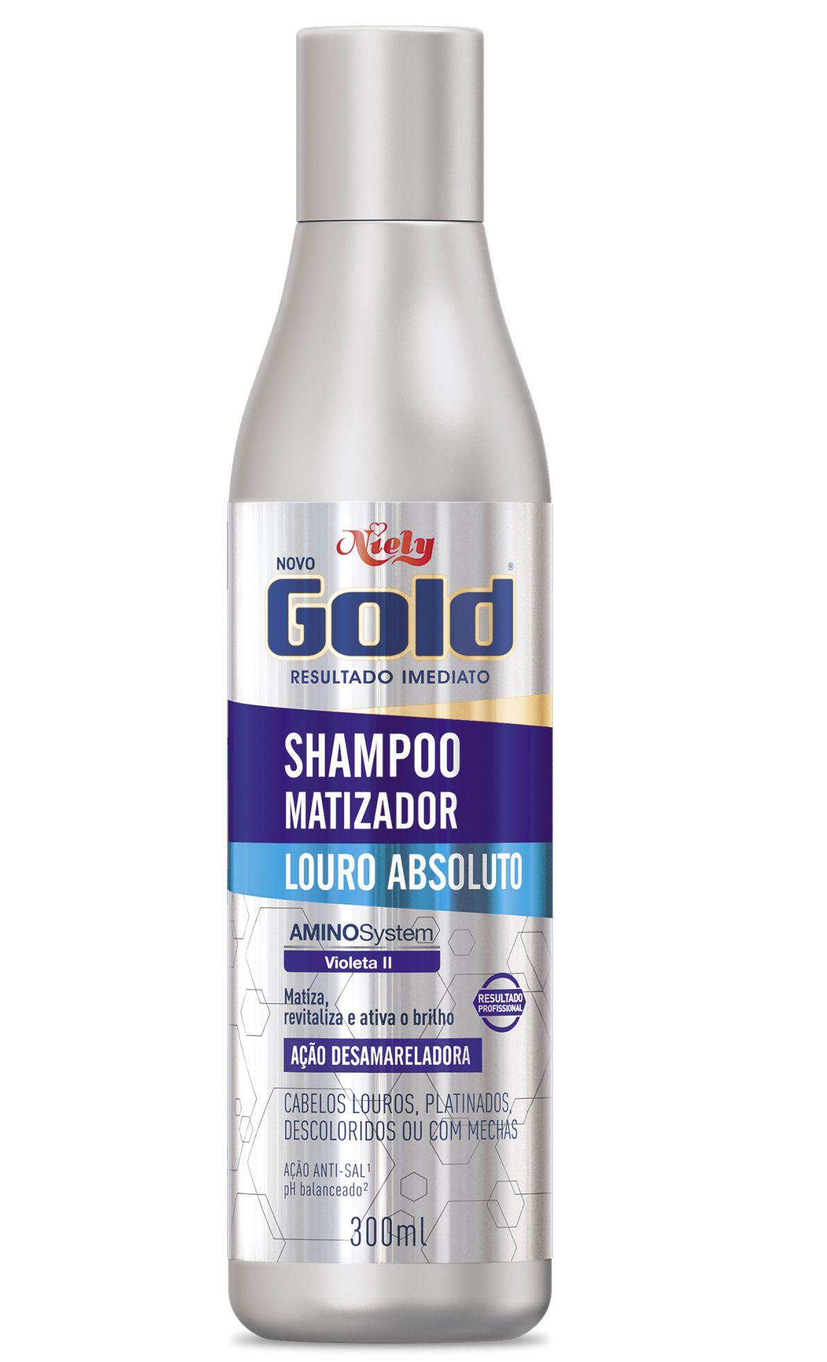 Shampoo Matizador Niely Gold Louro Absol 300ml