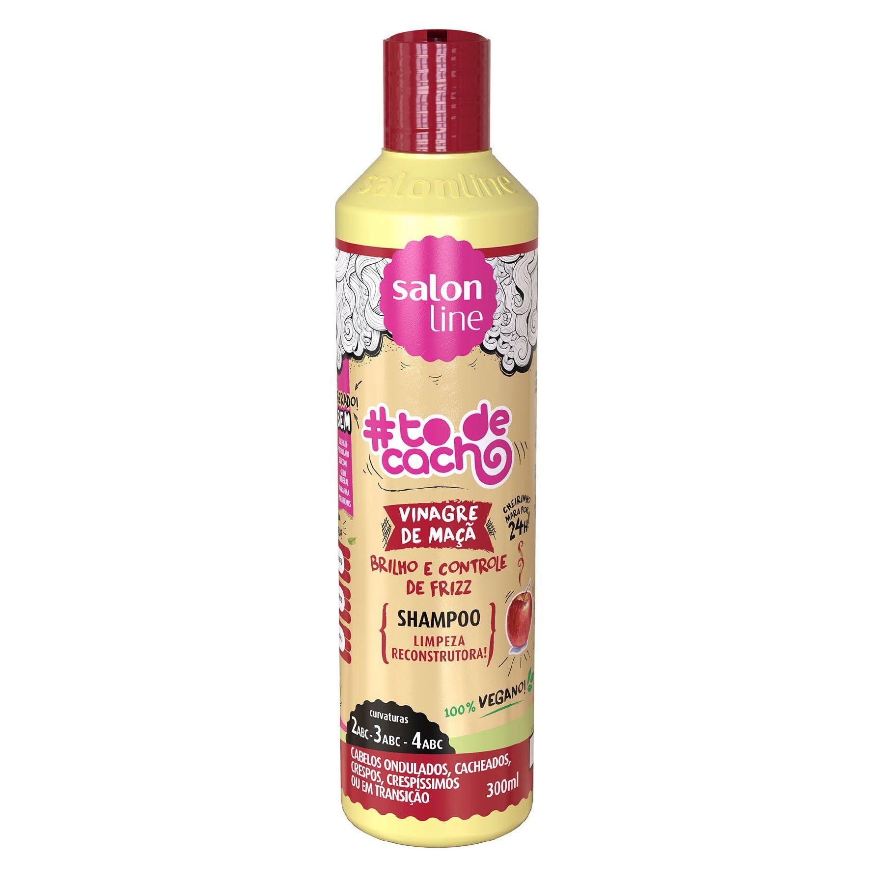 shampoo salon line #todecacho vinagre de maçã 300ml