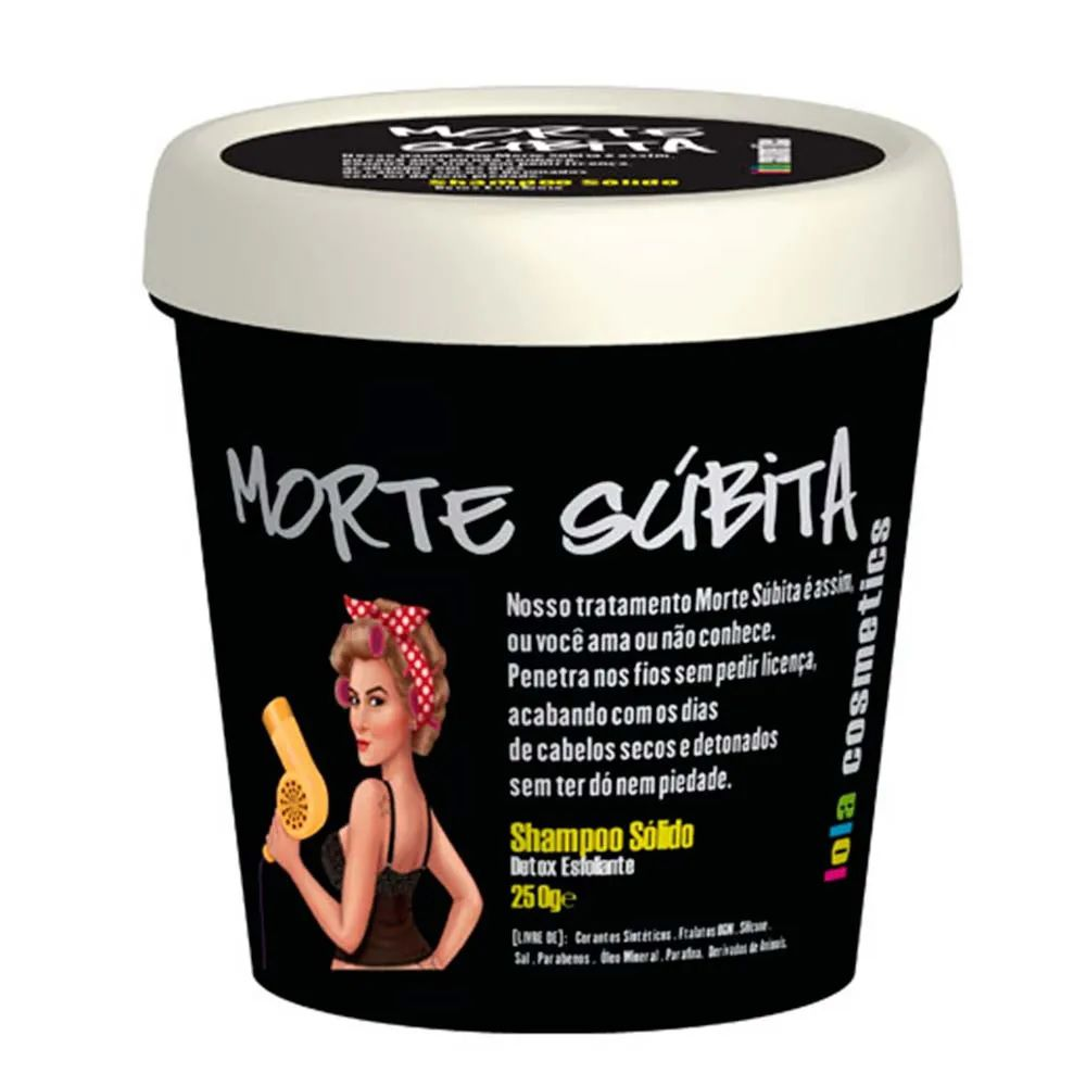 Shampoo Sólido Reconstrutor Morte Súbita Lola Cosmetics 250g