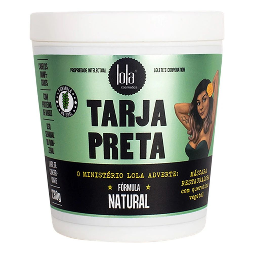 Tarja Preta Máscara Restauradora 230g Lola Cosmetics