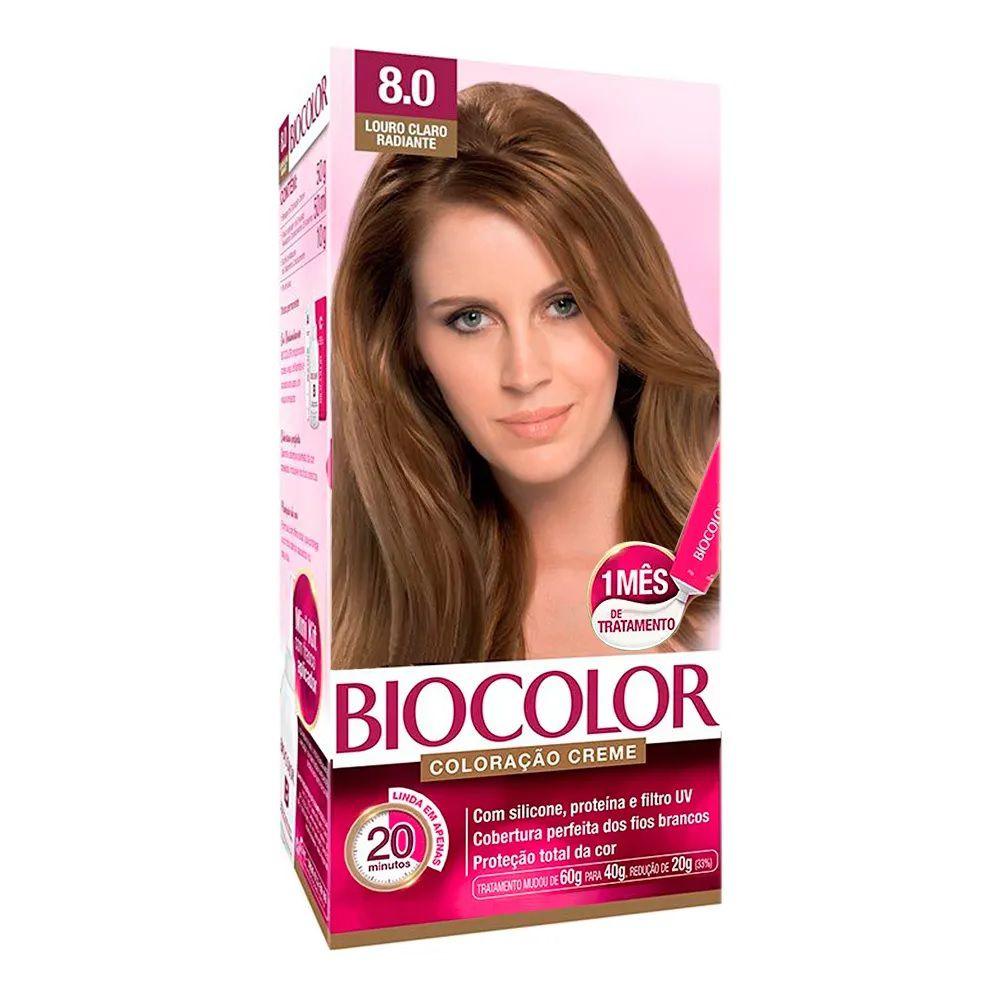 Tintura Creme Biocolor Louro Claro Radiante 8.0