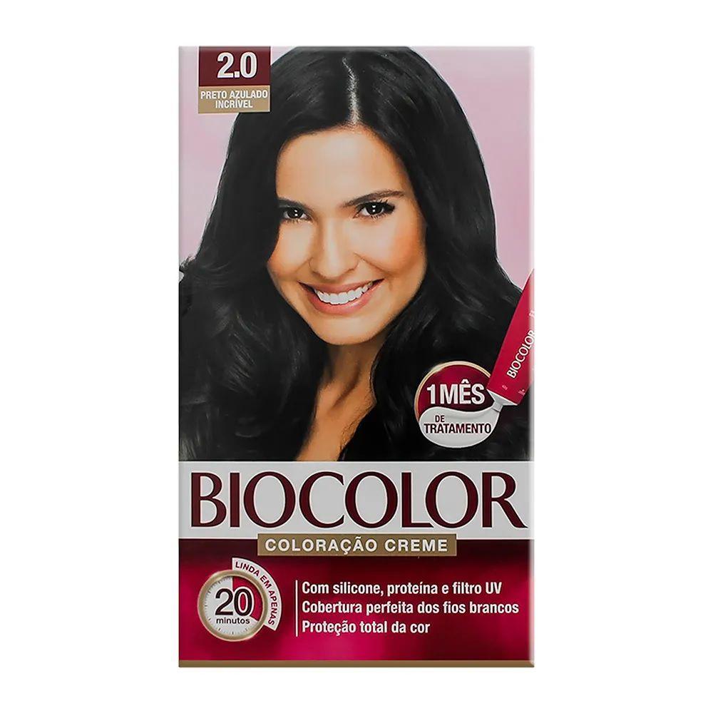 Tintura Creme Biocolor Preto Azulado Incrível 2.0