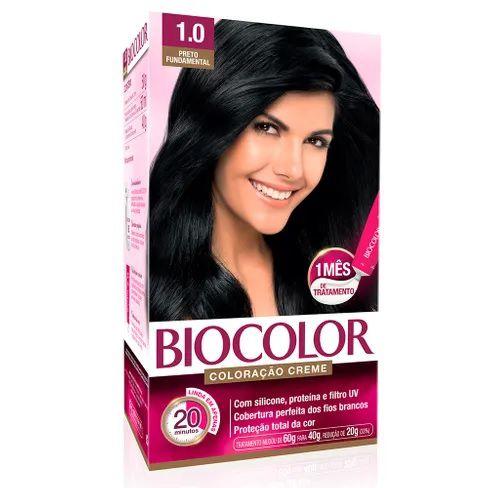 Tintura Creme Biocolor Preto Fundamental 1.0