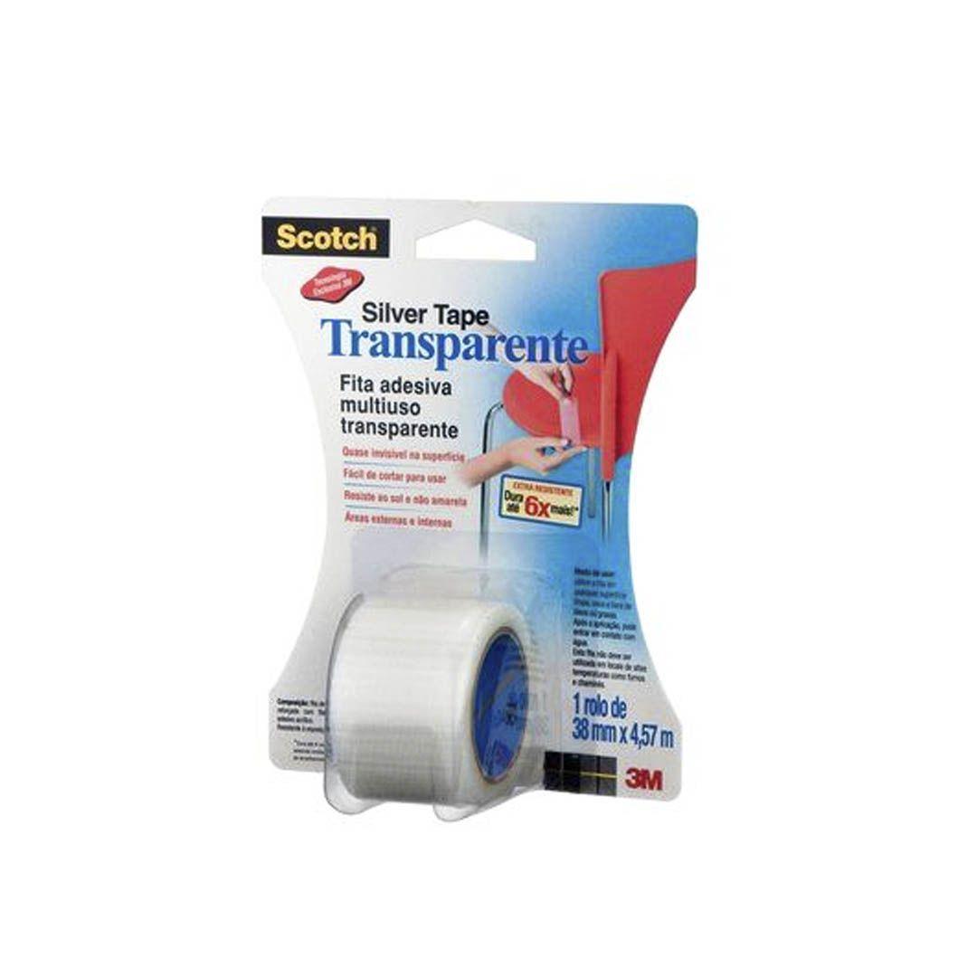 Fita Scotch Silver Tape Transparente - 3M