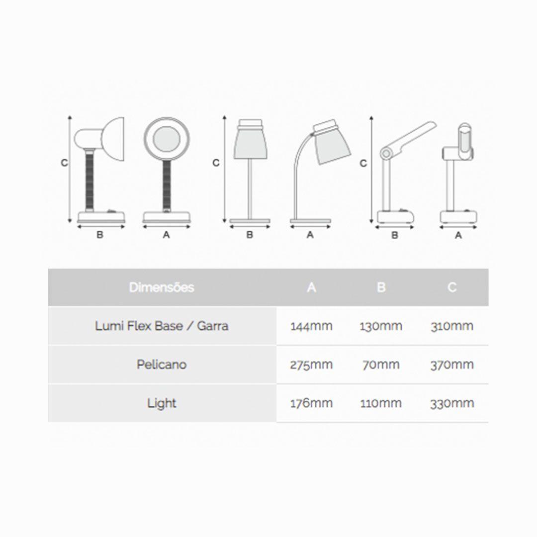 Luminária de Mesa Lumi Flex Garra 4W Bivolt - Kian