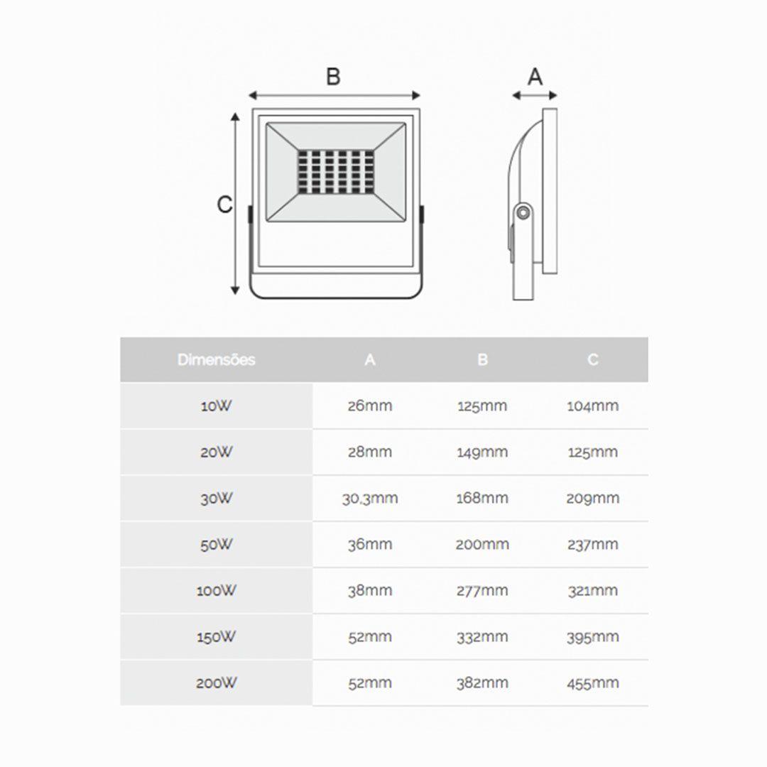 Refletor Super Led G3 10W - KIAN