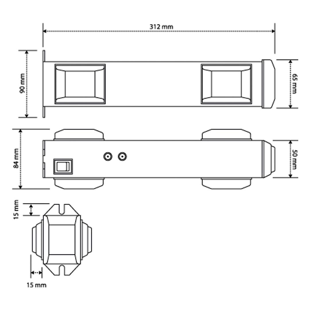 Sinalizador Led de Entrada e Saída Veículos Garagem - Techna