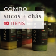 Combo: Sucos + Chás (10 itens)