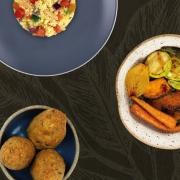Couscous Marroquino, Falafel e Legumes Assados