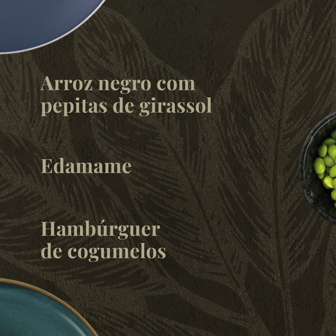 Arroz Negro, Hambúrguer de Cogumelos e Edamame  - kük