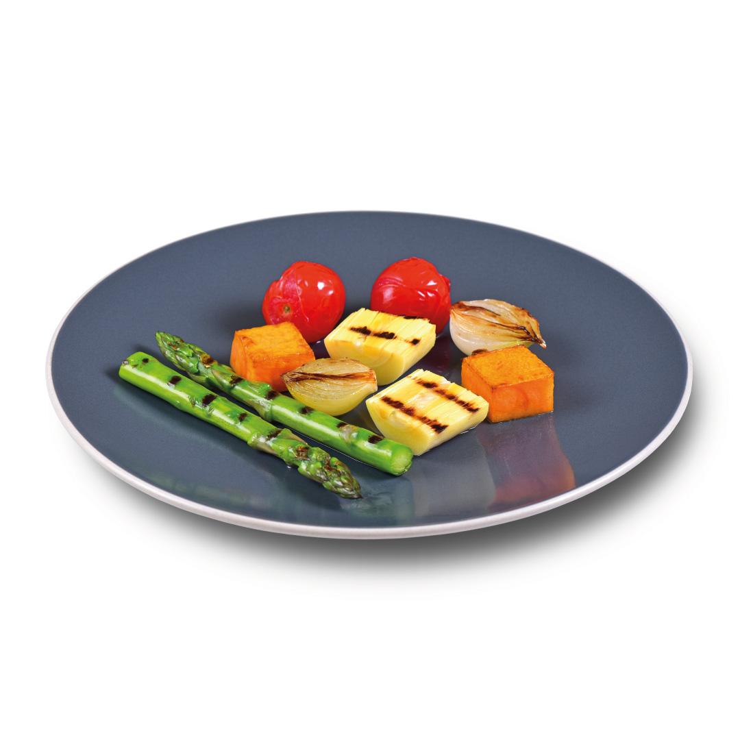 Aspargos com Abóbora, Pupunha e Tomate Confit  - kük