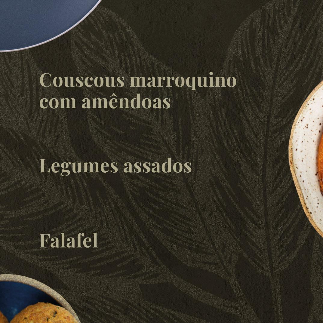 Couscous Marroquino, Falafel e Legumes Assados  - kük