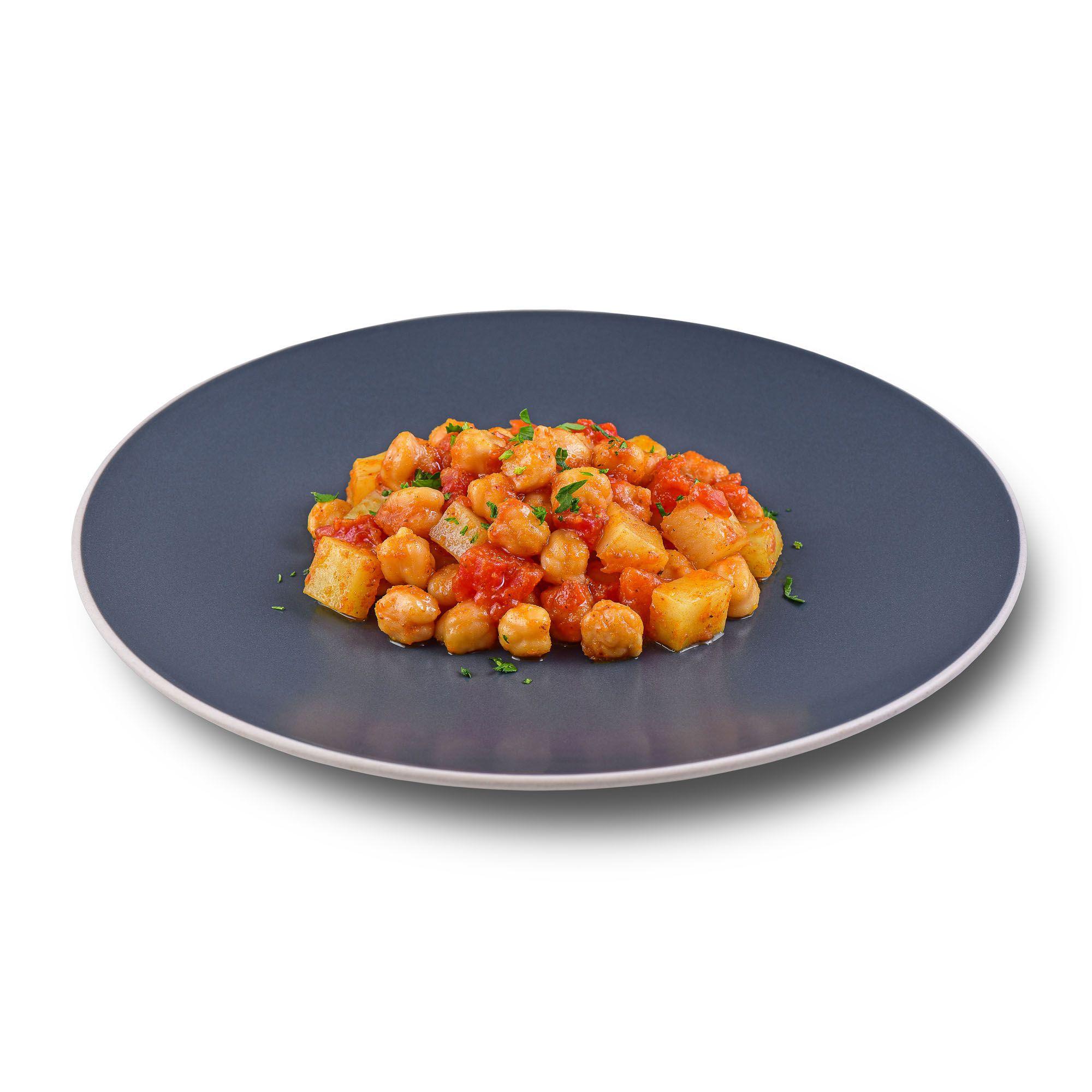 Grão de Bico e Batata ao Molho Curry