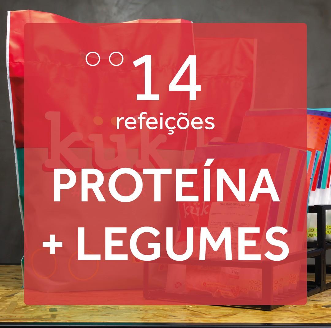 Kit Proteína + Legumes - 14 Refeições
