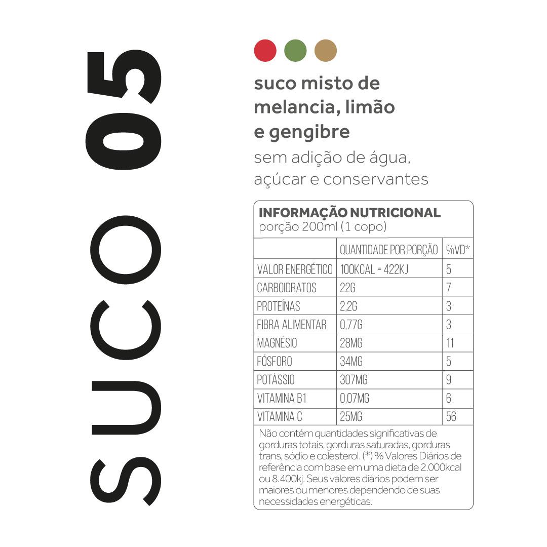 Suco 05 - Melancia, limão e gengibre  - kük