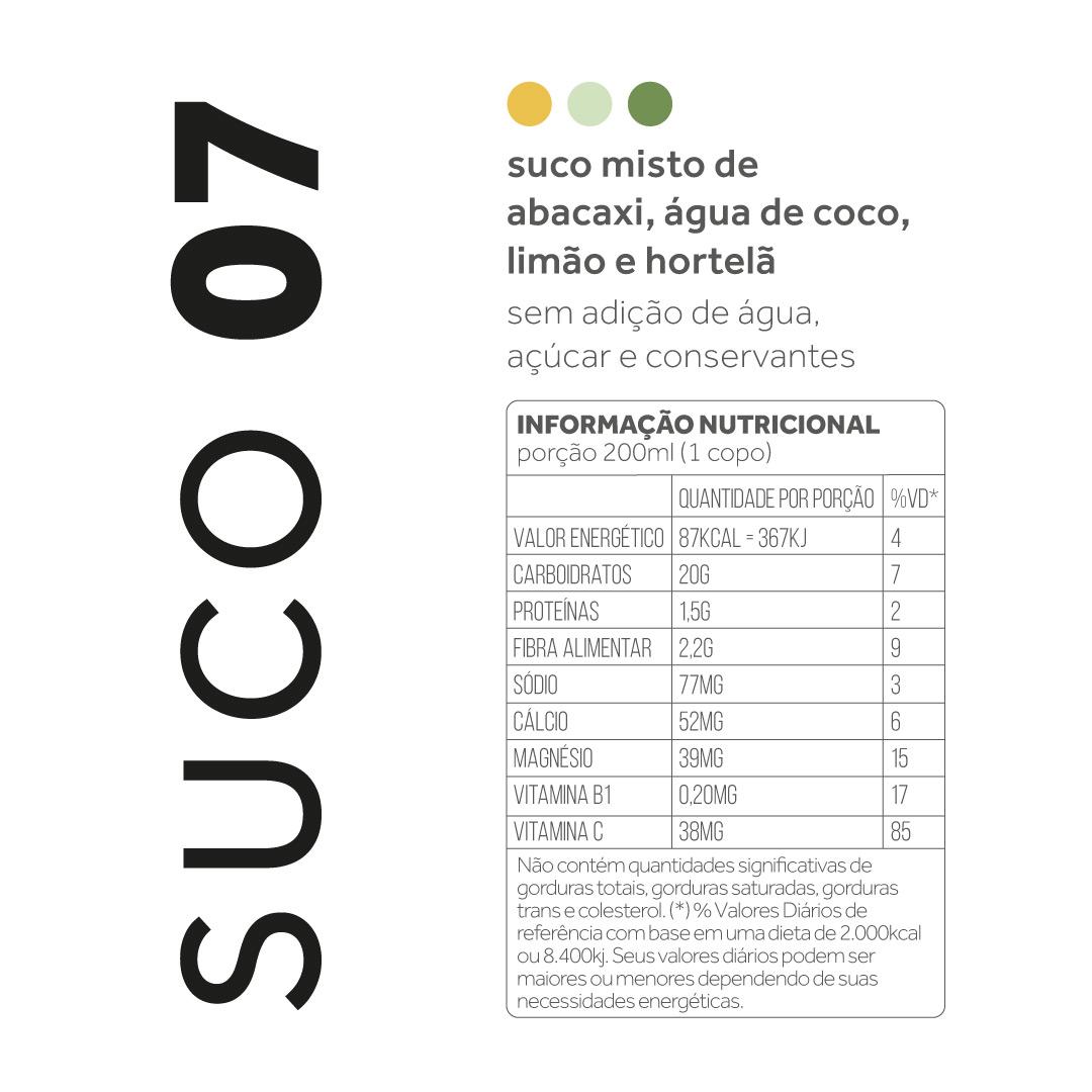 Suco 07 - Abacaxi, água de coco, limão e hortelã  - kük