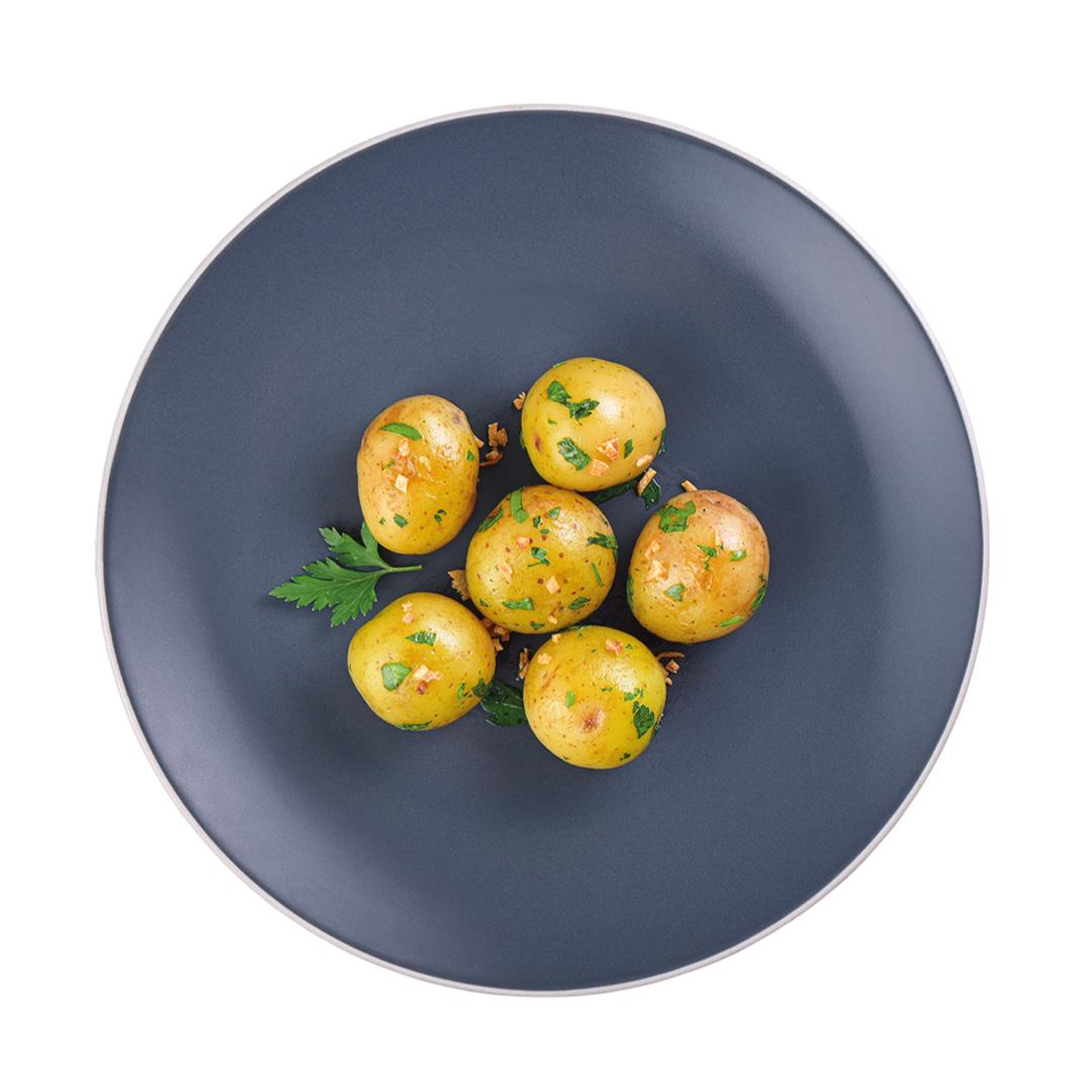 Tilápia Grelhada, Ervilha Torta com Cogumelos e Batata Bolinha (Prato)  - kük