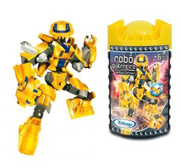 Blocos de Encaixe Robô Guerreiro - Yellow Armor - Xalingo