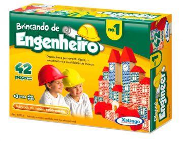 Blocos De Montar Brincando De Engenheiro 42 Peças - Xalingo