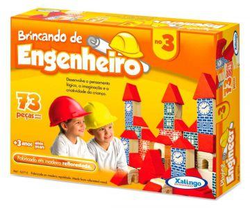 Blocos De Montar Brincando De Engenheiro 73 Peças - Xalingo