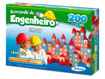 Kit com 4 Brincando de Engenheiro de 200 peças - Total de 800 Peças
