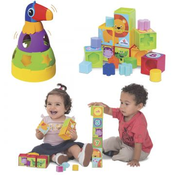 Kit de Brinquedos Educativos para Bebês Mercotoys
