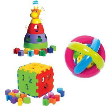 Kit de Brinquedos para meu Bebê Frete Grátis