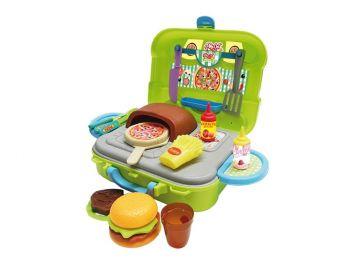 Maleta de Brinquedo Pizzaria - Playset Xalingo