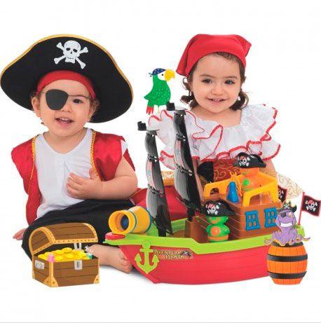 Barco Aventura Pirata Infantil - Mercotoys