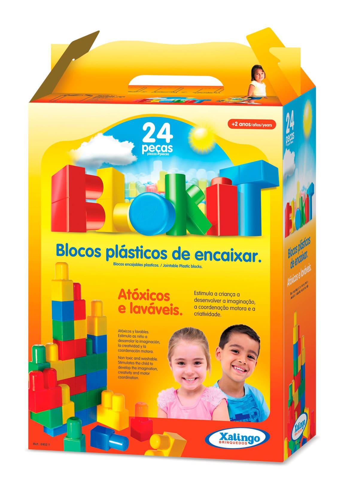 Blocos De Encaixar De Plástico 24 Peças - Xalingo