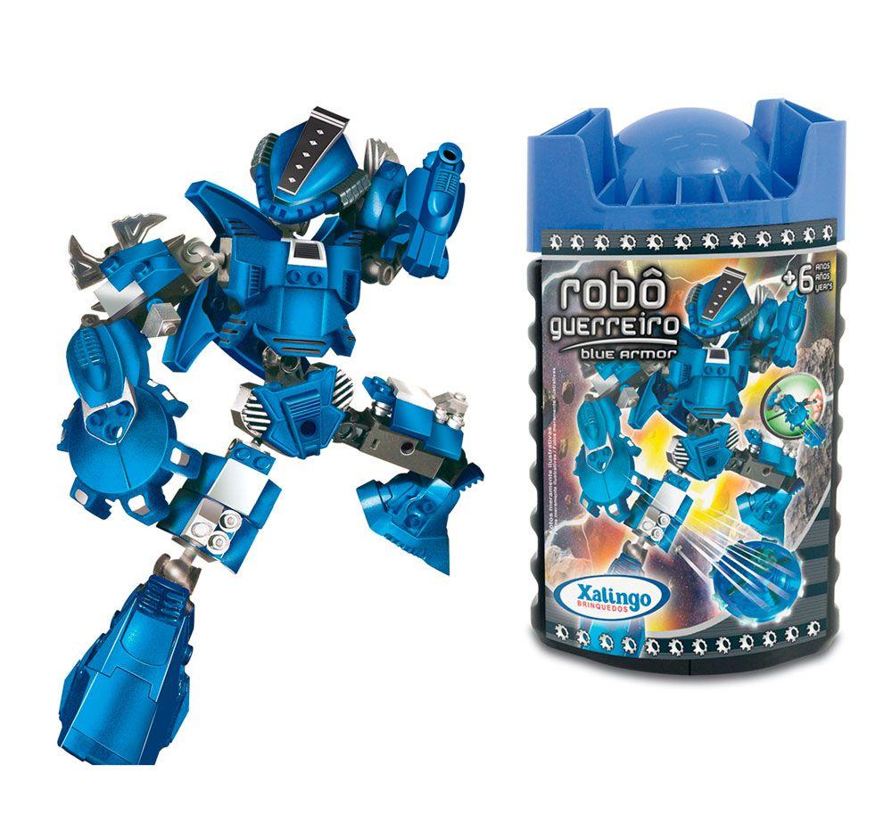 Blocos de Encaixe Robô Guerreiro - Blue Armor - Xalingo