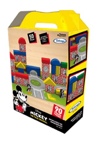 Brincando de Engenheiro Mickey 90 anos com 42 peças - Xalingo