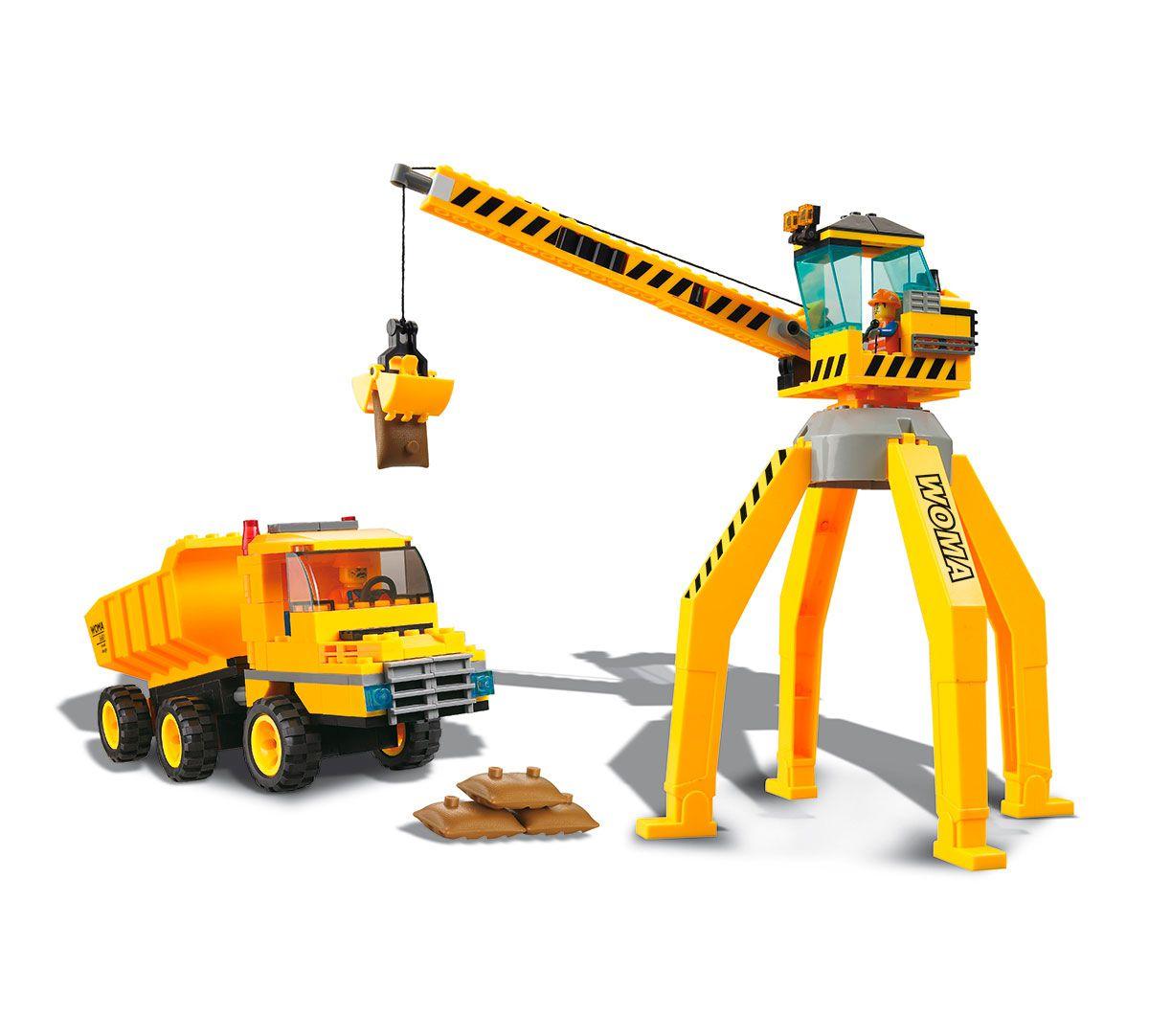 Cidade em Obras Guindaste e Caminhão 238 Peças
