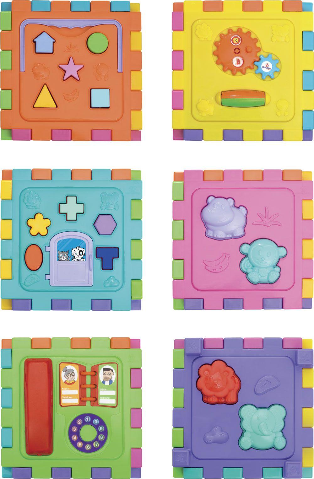 Cubo Didático Grande Caixa - Mercotoys