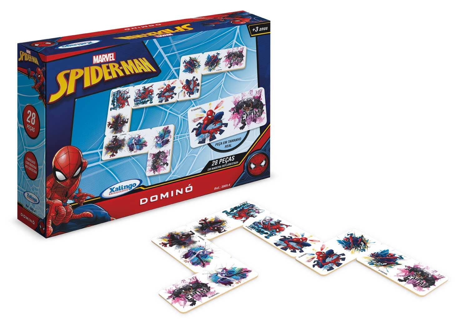 Dominó Homem Aranha - Spider Man Xalingo