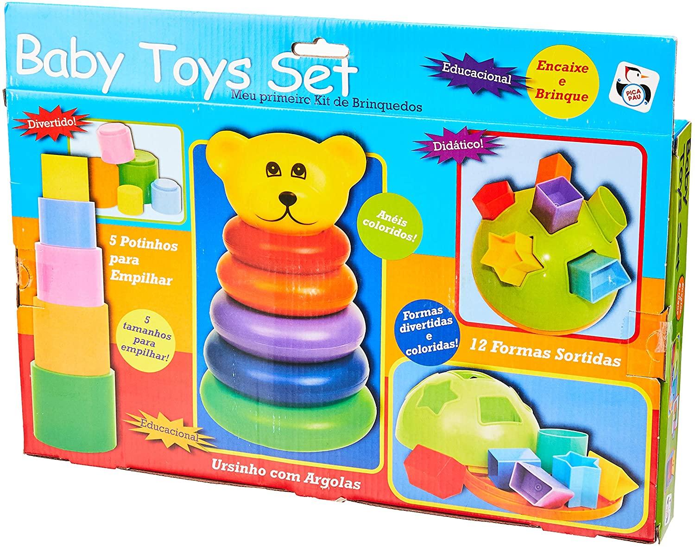 Kit de Brinquedos Baby Toys Set - Pica Pau