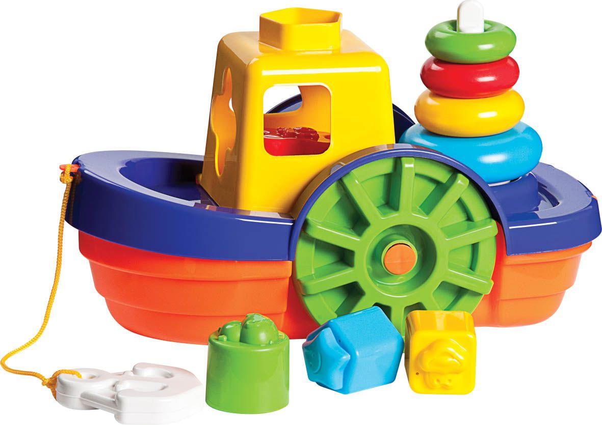 Kit de Brinquedos Educativos Barco + Cubinhos 5 em 1