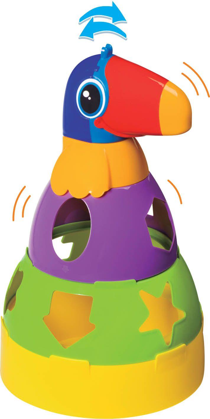 Kit de Brinquedos Educativos Barco + Tucano + Cubo