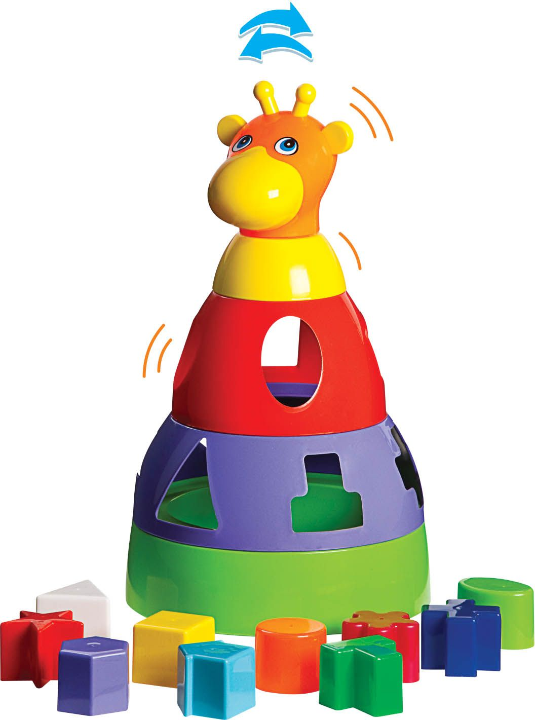 Kit de Brinquedos Educativos Girafa + Cubo + Bola