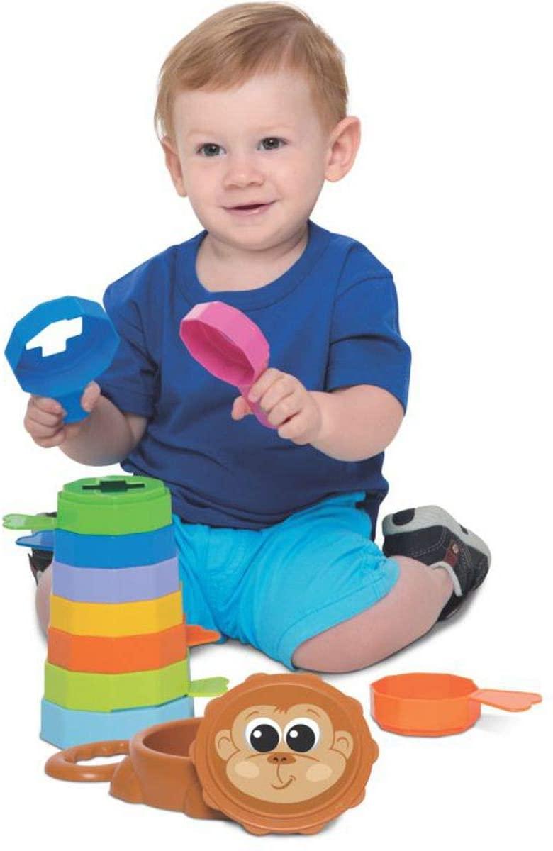 Kit de Brinquedos Educativos Girafa + Empilha Baby Macaco