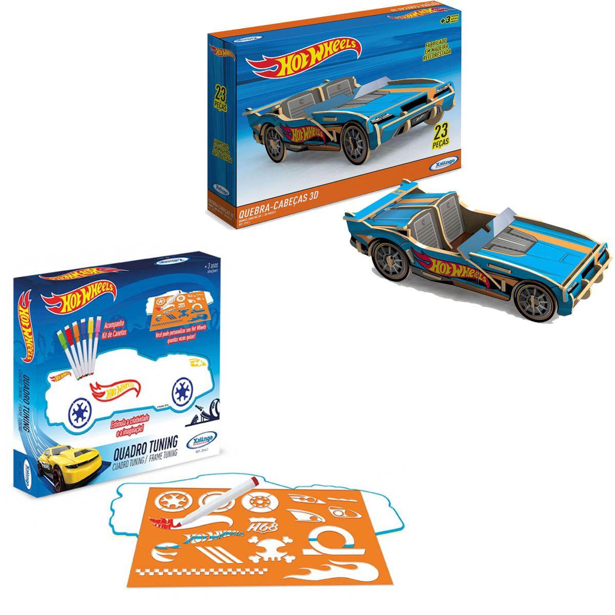 Kit de Brinquedos Educativos Hot Wheels